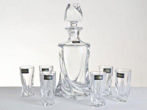 Whiskyset Quadro alcool Set 6 verres avec carafe Shot Set pm200 _ Shot