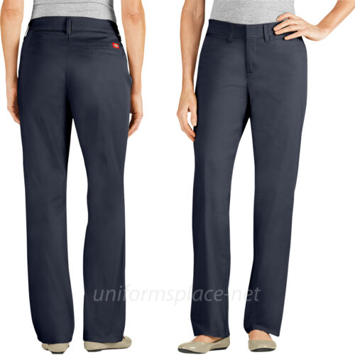 Dickies Pants Womens Relaxed Fit Straight Leg Stretch Twill Work Pant FP601