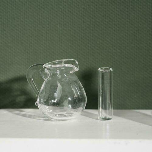 1:12 Mini Simulation Doll House Glass Bottle with Cup Model Accessories J5N1