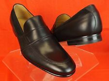 NIB GUCCI BLACK  BETIS GLAMOUR LEATHER SUEDE SCRIPT LOGO LOAFERS 11 12 #372284