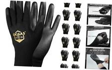 Safety Work Glovesbulk 12 Pair Pack Size L9 With Largepack Of 24 Black