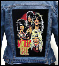 MOTLEY CRUE   --- Giant Backpatch Back Patch /Ratt Kiss Skid Row Van Halen