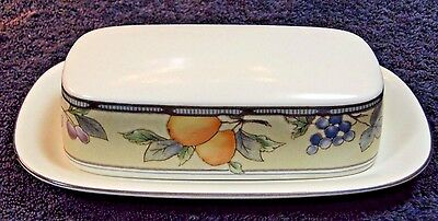 mikasa garden harvest. Mikasa Garden Harvest Intaglio Butter Dish With Lid CAC29 EXCELLENT!