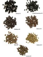 100 Microrings für Echthaar Extensions Haarverlängerung mit Silikon aufsatz 3mm