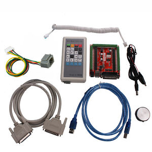 CNC-Kit-6-Axis-Stepper-Motor-Controller-Manual-Control-Box-USB-LPT-Mach3-CNC