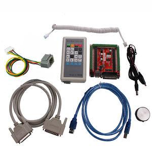 CNC-Kit-6-Axis-Stepper-Motor-Controller-Manual-Control-Box-USB-LPT-Mach3-CNC