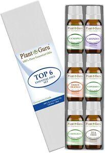Essential-Oil-Set-6-10ml-Gift-Kit-100-Pure-Therapeutic-Grade-Bulk-Sampler-Lot
