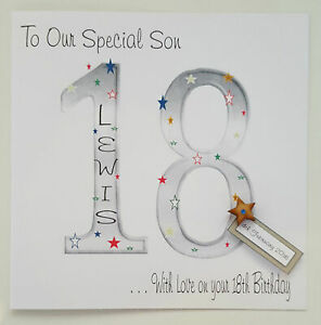 Image Is Loading Large Personalised 18th Birthday Card Grandson Son Nephew