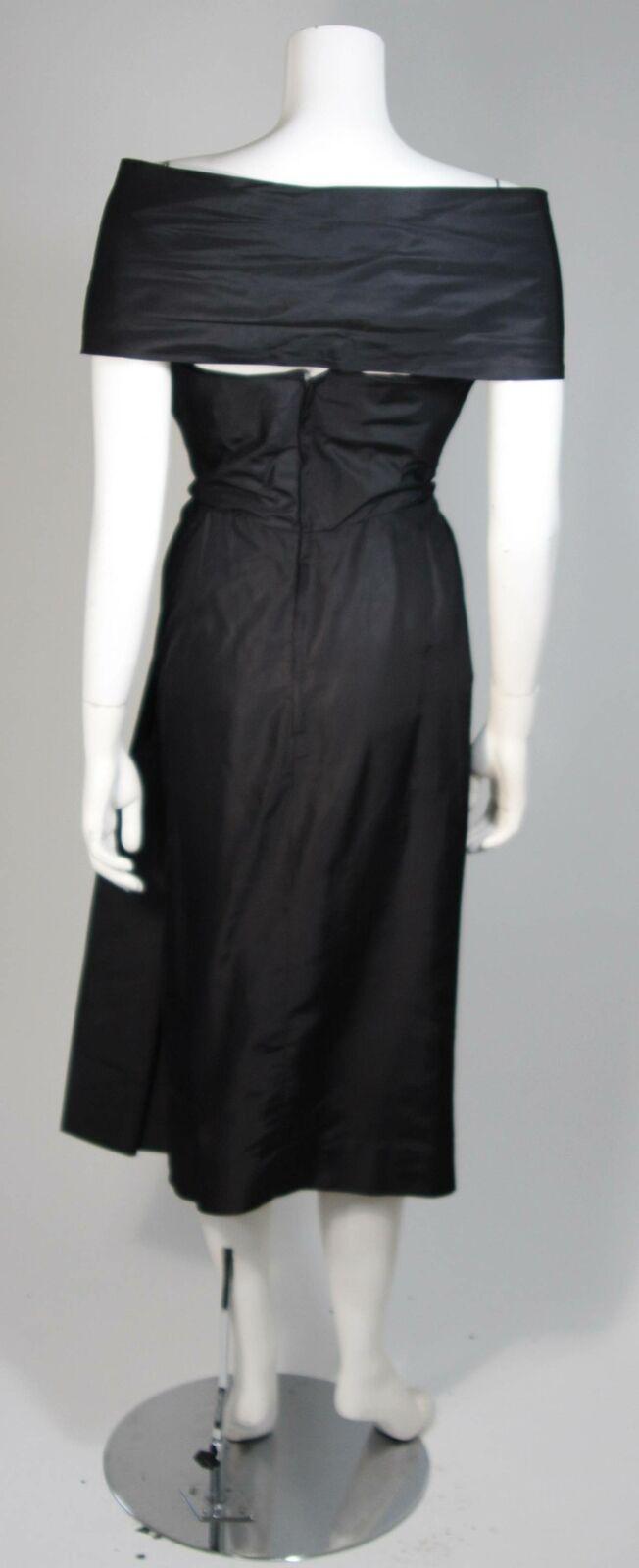 CEIL CHAPMAN  Black Cocktail Dress with Draped De… - image 9