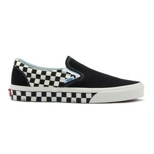 Details about New Vans Classic Slip On Sidewall Checkerboard BlackWhite Sneakers Shoes 2019