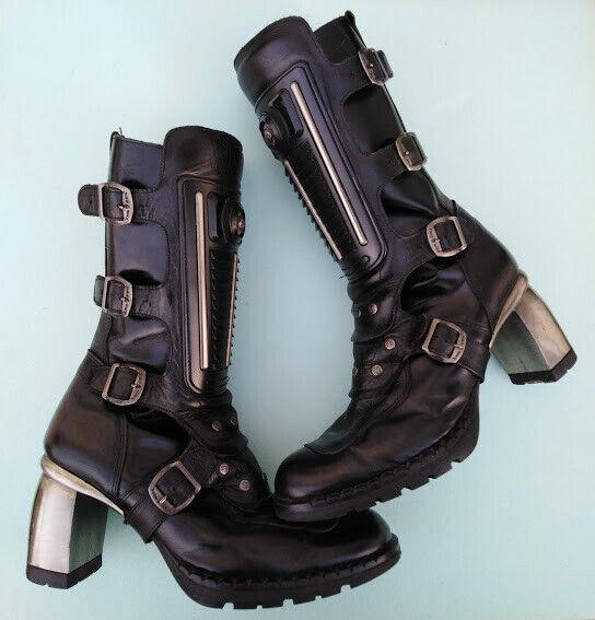 NEW NEW NEW ROCK Ladies Boots USED Good Condition Size UK6 EU39 2eba5c