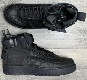 Nike SF Air Force 1 Mid Triple Black GS