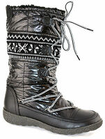 Ladies Womens Winter Fur Lined Snow Ankle Mid Calf Lace Up Boots Shoes Size 3-8