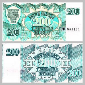 Lettland-Latvia-200-Rublu-1992-p41-unz