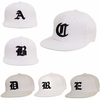 Appena Uomini Donne Bianco Nuovo Snap Back Cap Hat Nero Gotico 3d Lettere Baseball Cappelli La-mostra Il Titolo Originale