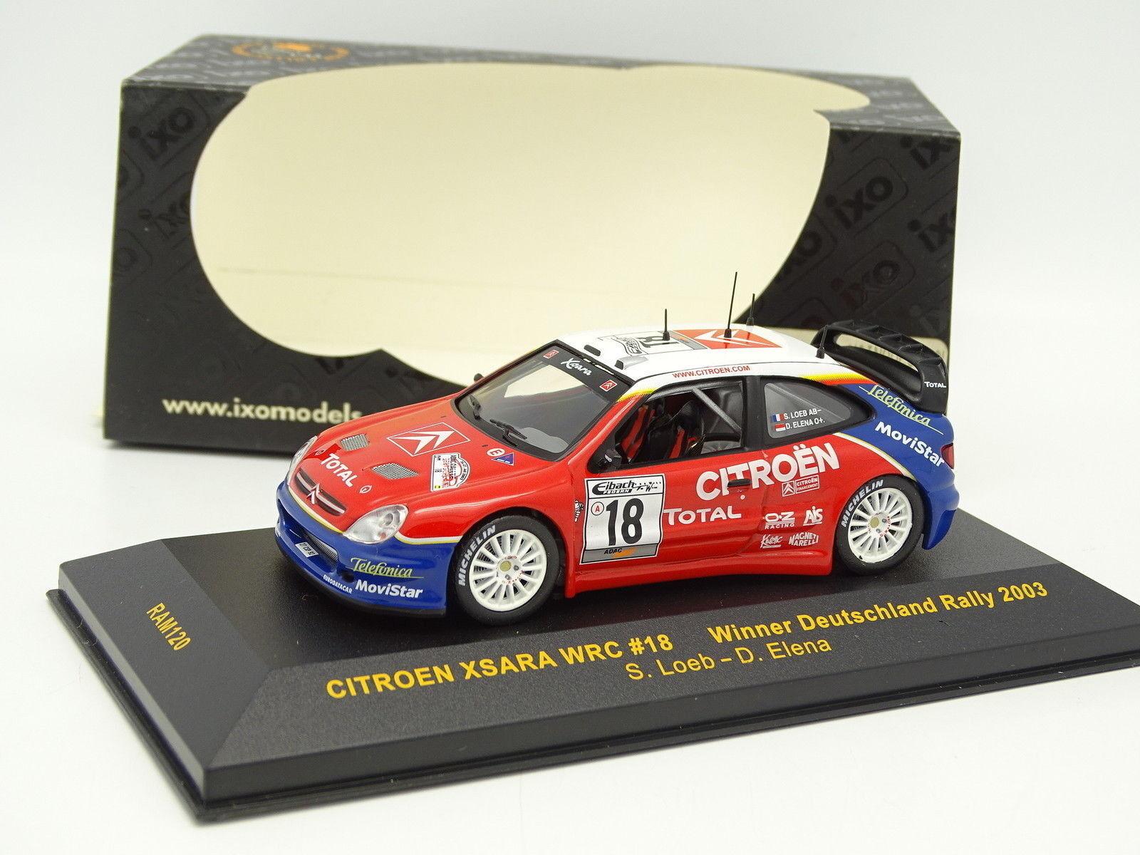 Ixo 1 43 - Citroen Xsara Xsara Xsara WRC Nr.18 Loeb Winner Deutschland Rally 2003 af2798
