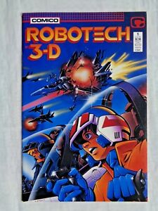 Robotech-3-D-No-1-August-1987-Comico-Comics-First-Printing-w-Glasses-NM-9-2