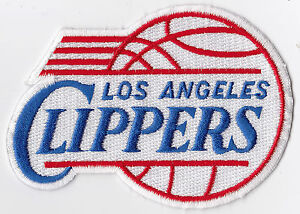 """1990'S ERA LOS ANGELES CLIPPERS NBA BASKETBALL VINTAGE 4"""" TEAM LOGO PATCH"""