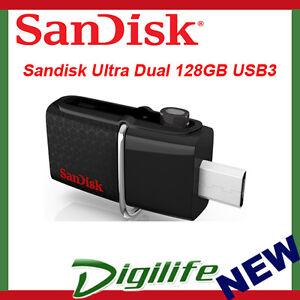 Sandisk-Ultra-Dual-128GB-USB-3-0-OTG-Flash-Drive-Black-up-to-150-MB-s