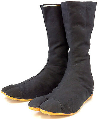 Ninja Tabi Shoes / Japanese Boots! (Black Rikio Jikatabi - Direct from Japan!)