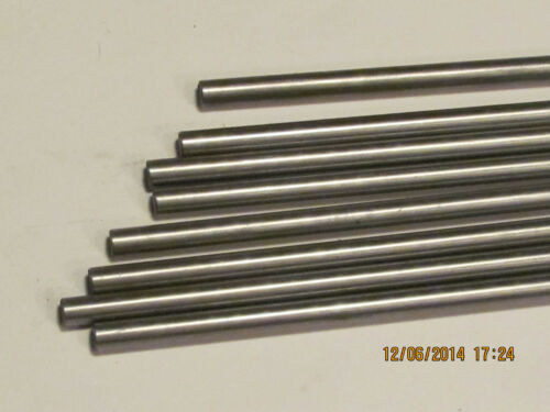 """3 MM  Stainless Steel Rod Bar Round  304   6/""""  Long 2 Pcs"""