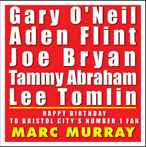 Image Is Loading BRISTOL CITY FC PERSONALISED BIRTHDAY CARD