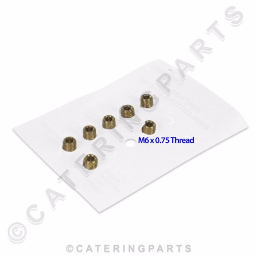 SET OF 7 x UNIVERSAL LP LPG PROPANE GAS BURNER INJECTOR JET KIT THREAD M6 x 0.75