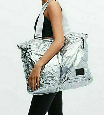 Womens Nike Metallic Silver Large London Tote Gym Weekend Bag Bz9810 002 BNT