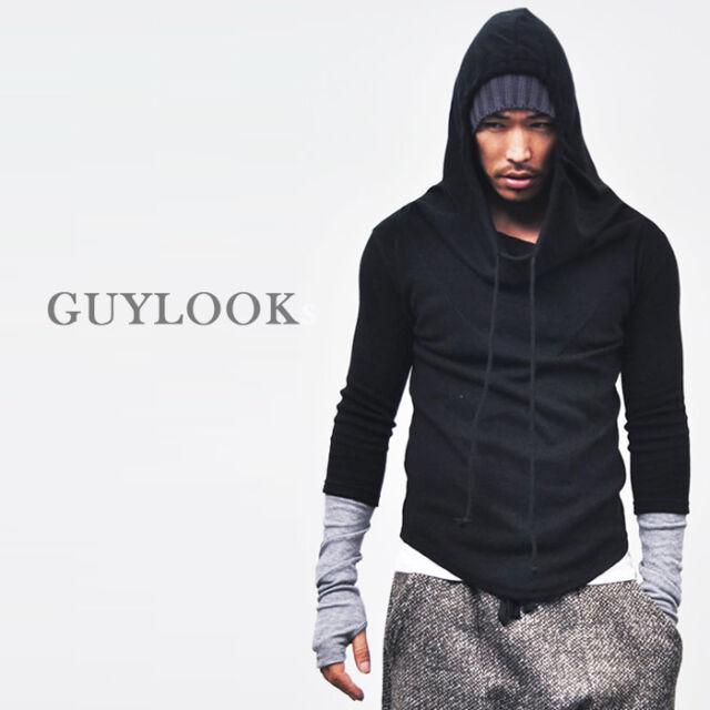 Avant-garde Built-in Armwarmer Turtle Neck Woolblends Knit Hoodie S M By Guylook