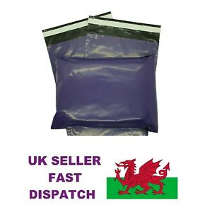 Purple-Mailing-Bags-6-034-x-9-034-165-mm-x-230-mm-Lip-100-Recyclable