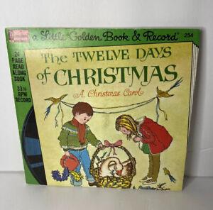 Walt Disney Record & Book / THE Twelve Days Of CHRISTMAS / 33 1/2 Vintage