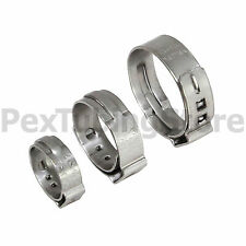 """(100) 3/8"""" PEX Stainless Steel Cinch Clamps SSC by Oetiker Made in USA, NSF/ASTM"""