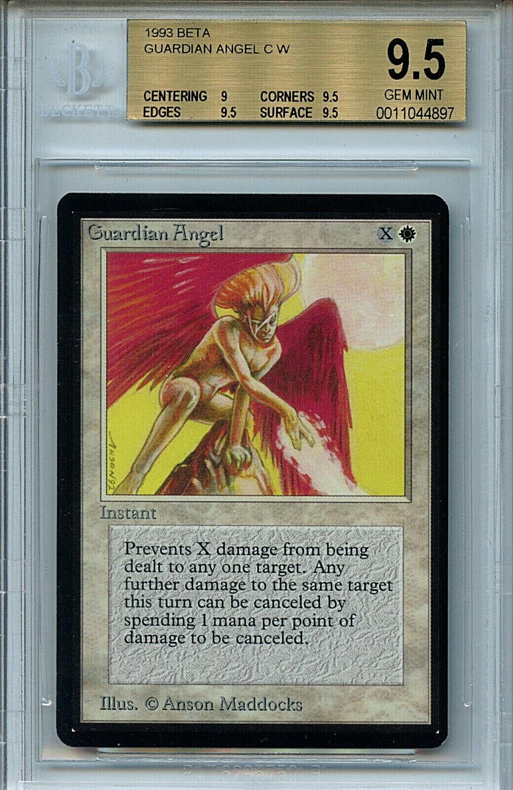 MTG Alpha Guardian Angel BGS 9.5 Gem Mint Magic Card Amricons 4897