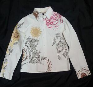 camicia-shirt-CLASS-by-roberto-cavalli-girl-cotone-cotton-size-48-bianco-white