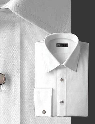 Ike Behar Pique Laydown Collar Tuxedo Shirt