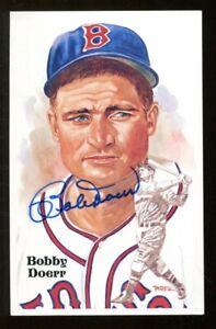 Bobby Doerr Signed 1987 Perez-Steele HOF Postcard Autographed Red Sox 55265