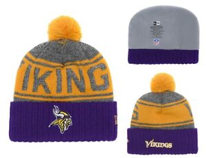 2018 Minnesota Vikings New Era NFL Knit Hat On Field Sideline Beanie ... a29a01f8cf6