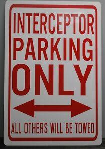 Yohoba Metal Street Sign Interceptor Parking ONLY Police Crown Victoria P71 Charger SSP