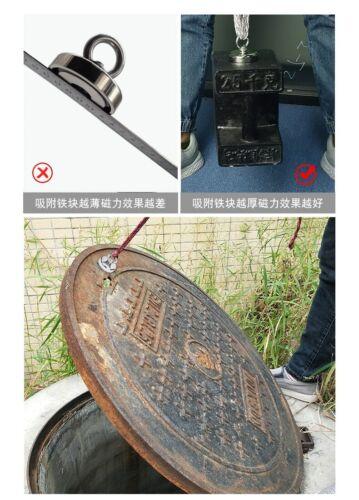 990 1200Lb Salvage Neodymium Fishing Magnet Recover Detect Hunter Metal Treasure