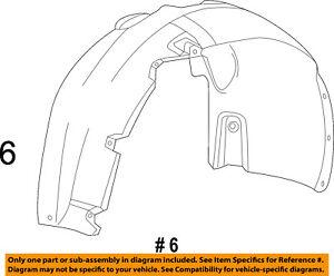 Dodge-CHRYSLER-OEM-13-16-Dart-Front-Fender-Liner-Splash-Shield-Left-68082835AE