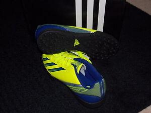 adidas Fussballschuh junior Gr. 38 UK 5 F5 TRX J gelb/blau mit Nocken