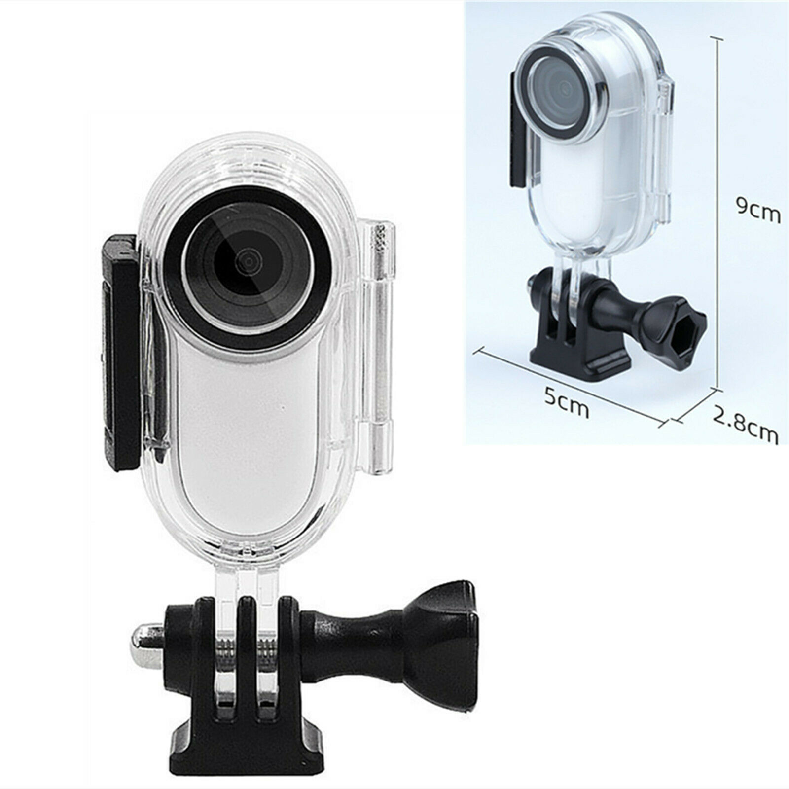 Waterproof Case Protective Cover Housing Shell Adapter for Insta360 Go2 Camera
