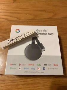 New Google Chromecast 3rd Gen Digital HDMI Media Streaming Device 2018 Version