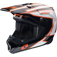 NEW ONE INDUSTRIES GAMMA CRYPTO MX ATV BMX  PREMIUM HELMET ADULT MEDIUM BLACK/OR