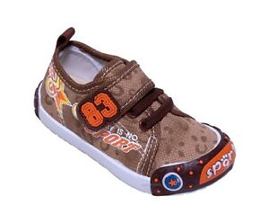 ee38075c5801 Details about BABY BOYS CANVAS SHOES - TRAINERS - WALKING SHOES UK size 4-7    EU 20-24 GROOVY!