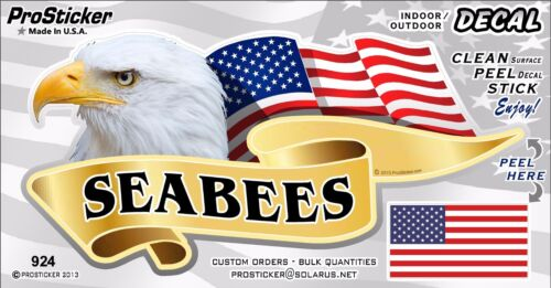 """ProSticker 924V American Pride Series /""""Seabees/"""" Bald Eagle decal One"""