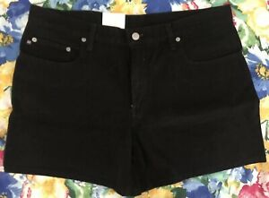 "2a5083bf Details about Polo Jeans Company Ralph Lauren Black Jeans 5"" Saturday  Shorts Womens 14 NWT $39"