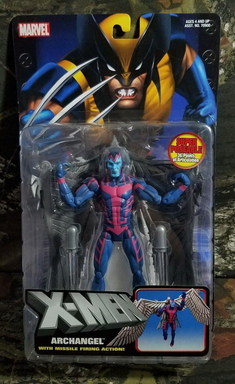 MOC Marvel X-Men  ARCHANGEL  missile firing Action Figure ToyBiz Sealed CG