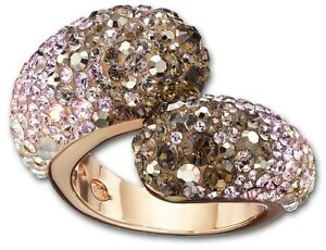 5877e0fcc Image is loading Swarovski-Louise-Nude-ring-size-58-New-1160665