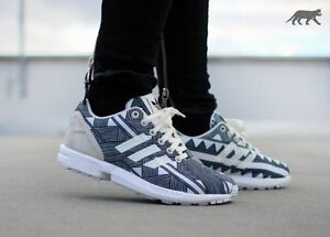 b935a1b3b Image is loading adidas-Originals-Womens-ZX-Flux-Print-Trainers-White-